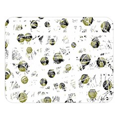 White and yellow soul Double Sided Flano Blanket (Large)