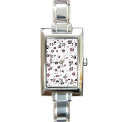 White And Red Soul Rectangle Italian Charm Watch