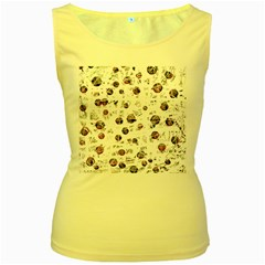 White and red soul Women s Yellow Tank Top