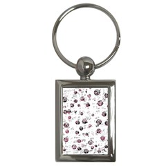 White and red soul Key Chains (Rectangle)