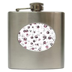 White and red soul Hip Flask (6 oz)