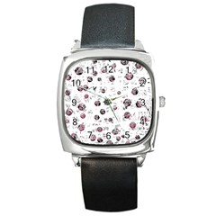 White and red soul Square Metal Watch