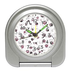 White and red soul Travel Alarm Clocks