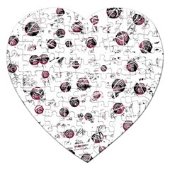 White and red soul Jigsaw Puzzle (Heart)