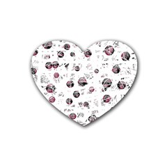 White and red soul Rubber Coaster (Heart)