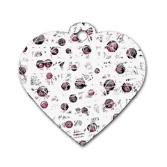 White and red soul Dog Tag Heart (One Side)