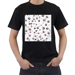 White and red soul Men s T-Shirt (Black)