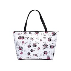 White and red soul Shoulder Handbags