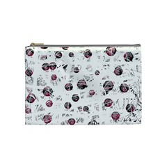 White And Red Soul Cosmetic Bag (medium)