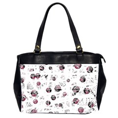 White and red soul Office Handbags (2 Sides)