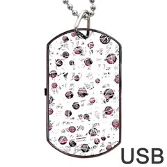 White and red soul Dog Tag USB Flash (Two Sides)