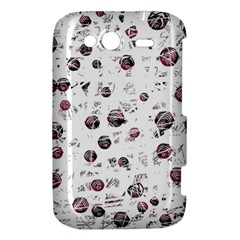 White and red soul HTC Wildfire S A510e Hardshell Case