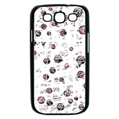 White and red soul Samsung Galaxy S III Case (Black)