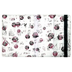 White and red soul Apple iPad 2 Flip Case