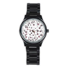 White and red soul Stainless Steel Round Watch