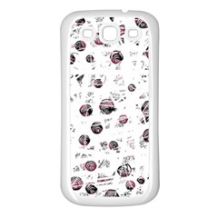 White and red soul Samsung Galaxy S3 Back Case (White)