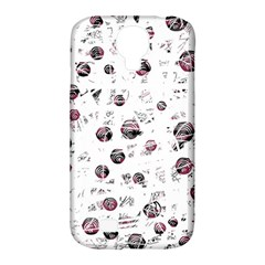 White and red soul Samsung Galaxy S4 Classic Hardshell Case (PC+Silicone)
