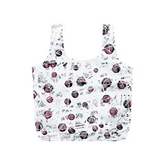 White and red soul Full Print Recycle Bags (S)