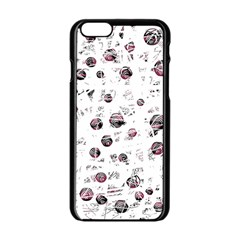 White and red soul Apple iPhone 6/6S Black Enamel Case
