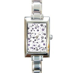 White and blue soul Rectangle Italian Charm Watch