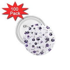 White and blue soul 1.75  Buttons (100 pack)