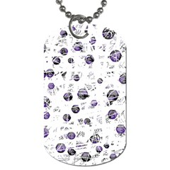 White and blue soul Dog Tag (One Side)