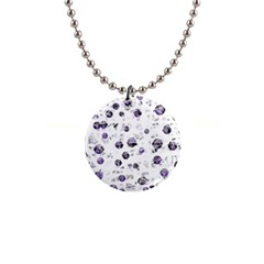 White and blue soul Button Necklaces
