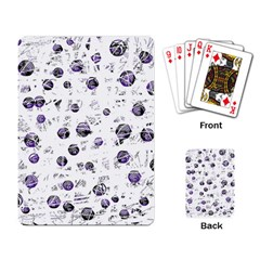 White and blue soul Playing Card