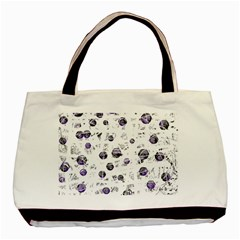 White and blue soul Basic Tote Bag
