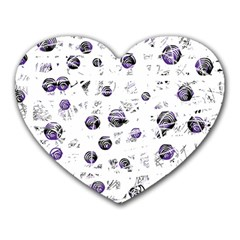 White and blue soul Heart Mousepads