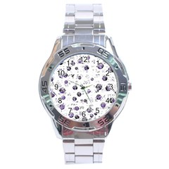 White and blue soul Stainless Steel Analogue Watch