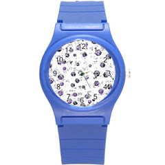 White and blue soul Round Plastic Sport Watch (S)