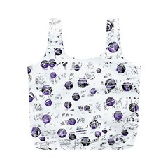 White and blue soul Full Print Recycle Bags (M)