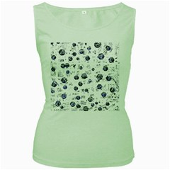 White and deep blue soul Women s Green Tank Top