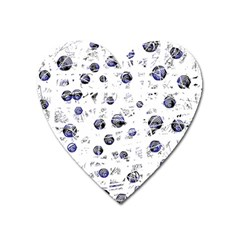 White and deep blue soul Heart Magnet