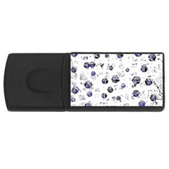 White and deep blue soul USB Flash Drive Rectangular (1 GB)