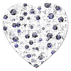 White and deep blue soul Jigsaw Puzzle (Heart)