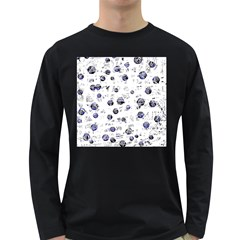 White and deep blue soul Long Sleeve Dark T-Shirts