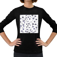 White and deep blue soul Women s Long Sleeve Dark T-Shirts