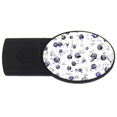 White and deep blue soul USB Flash Drive Oval (4 GB)