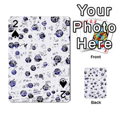 White and deep blue soul Playing Cards 54 Designs