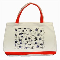 White and deep blue soul Classic Tote Bag (Red)