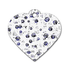 White and deep blue soul Dog Tag Heart (Two Sides)