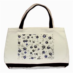 White and deep blue soul Basic Tote Bag (Two Sides)