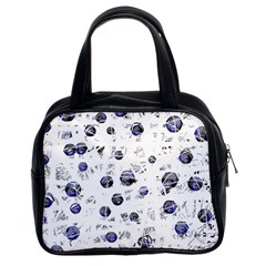 White and deep blue soul Classic Handbags (2 Sides)