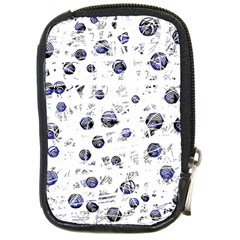 White and deep blue soul Compact Camera Cases