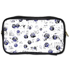 White and deep blue soul Toiletries Bags 2-Side
