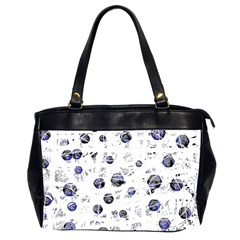 White and deep blue soul Office Handbags (2 Sides)