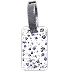 White and deep blue soul Luggage Tags (One Side)