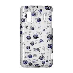 White and deep blue soul HTC Evo Design 4G/ Hero S Hardshell Case
